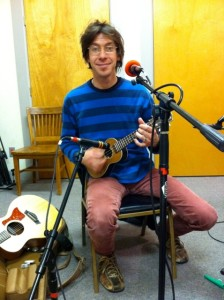 Kid K in the Live Studio, just before going on air with WFHB's Local Live.
